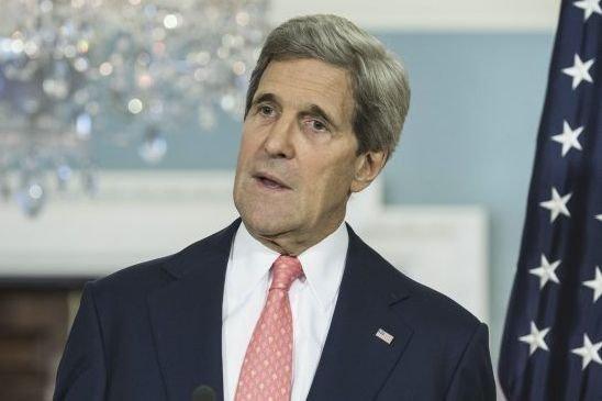 Le secrétaire d'État américain John Kerry... (PHOTO BRENDAN SMIALOWSKI, AFP)