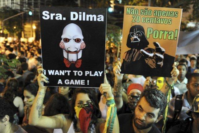Plus d'un million de Brésiliens se sont rassemblés... (Photo AFP)