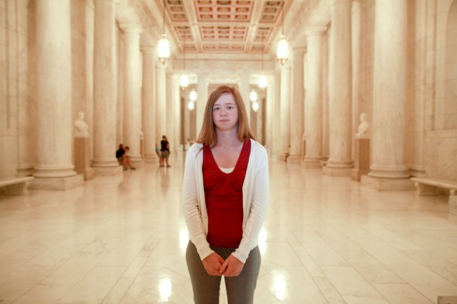 Abigail Fisher se dit victime de discrimination raciale.... (PHOTO FRED R. CONRAD, THE NEW YORK TIMES)