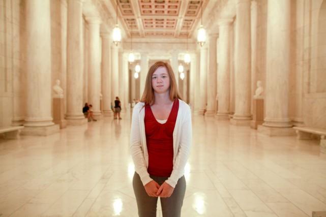 Abigail Fisher se dit victime de discrimination raciale.... (PHOTO FRED R. CONRAD, THE NEW YORK TIMES)