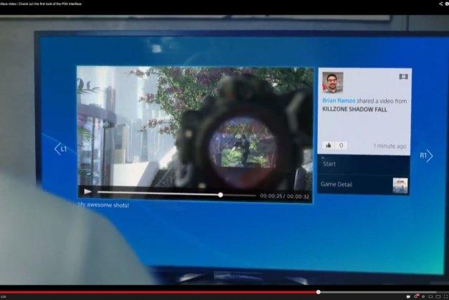 Une bande-annonce de présentation de la nouvelle PlayStation PS4 donne un... (Photo YouTube)