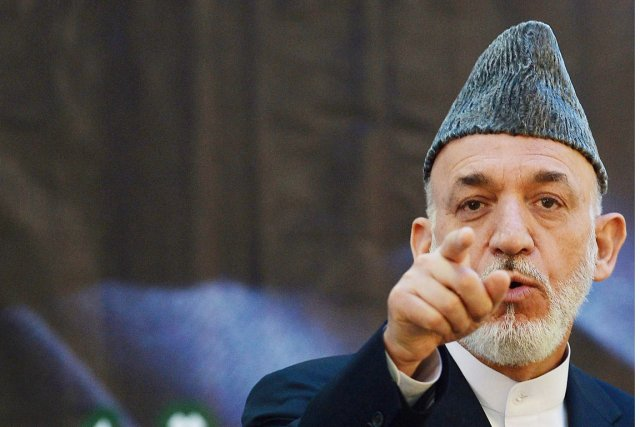 Le président afghan Hamid Karzaï.... (PHOTO SHAH MARAI, ARCHIVES AFP)