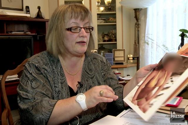 Karen Côté... (Image vidéo)