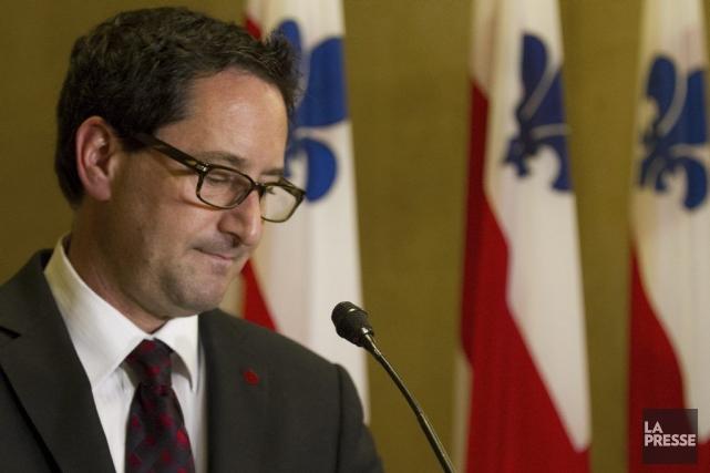Michael Applebaum lors de sa démission.... (Photo Olivier Jean, La Presse)