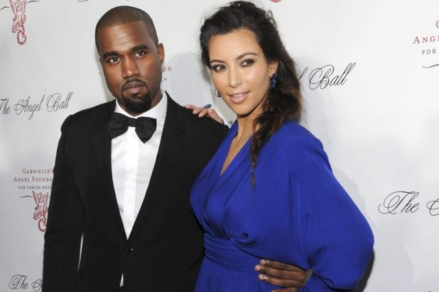 Kanye West et Kim Kardashian... (Photo: archives AP)