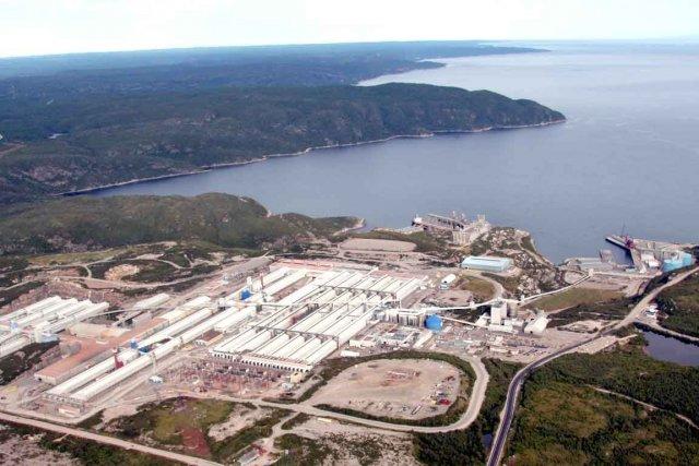 L'usine d'Alcoa à Baie-Comeau...