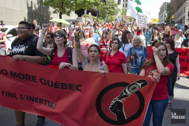 Cinq chefs autochtones de l'Ontario se disent prêts à mourir pour que des... (PHOTO DAVID BOILY, ARCHIVES LA PRESSE)