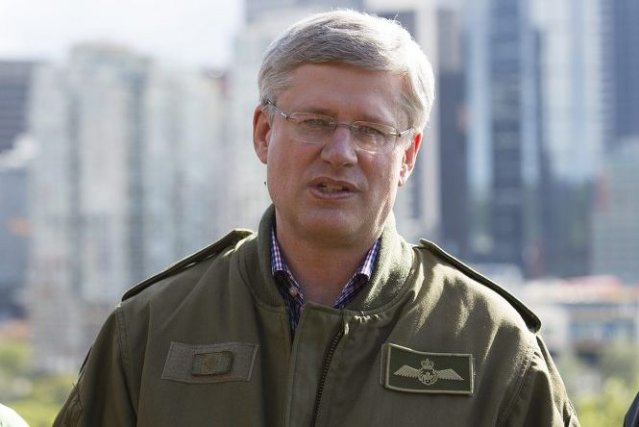 Le premier ministre Stephen Harper est arrivé à... (PHOTO TODD KOROL, REUTERS)