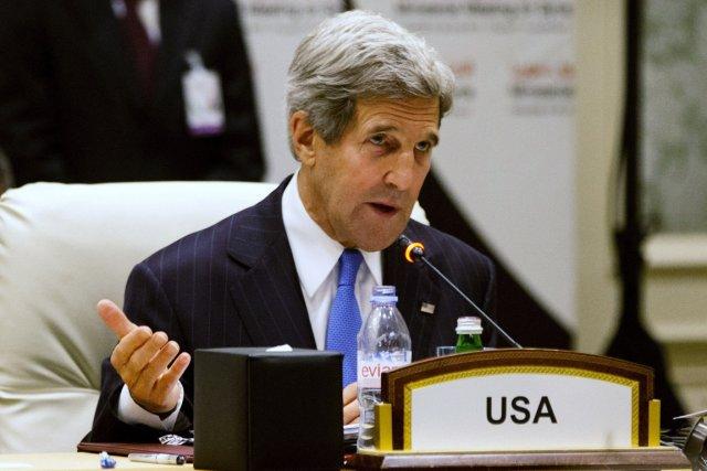 Le secrétaire d'État américain John Kerry a souligné... (Photo : Jacquelyn Martin, Reuters)