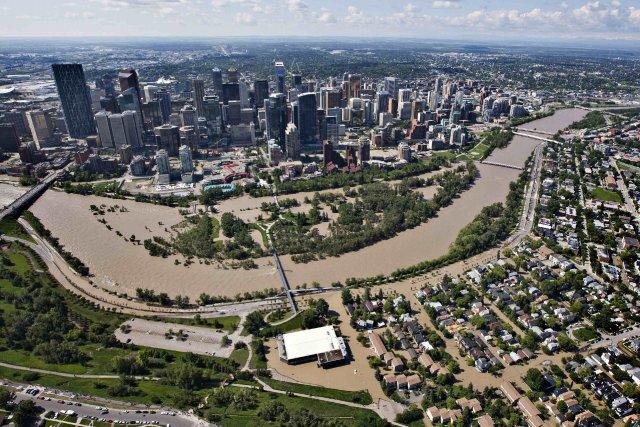 Vue aérienne de Calgary.... (Photo Andy Clark,Reuters)