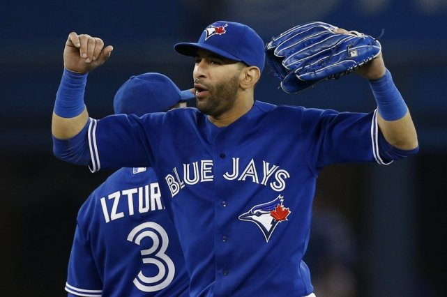 Jose Bautista a cogné un circuit de deux... (PHOTO MARK BLINCH, REUTERS)