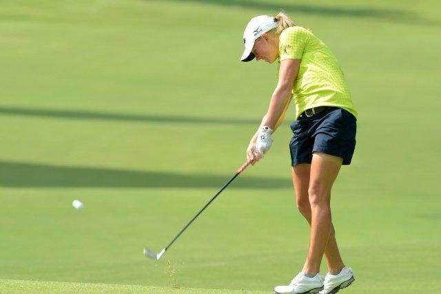 Stacy Lewis, la deuxième joueuse mondiale, a signé... (PHOTO ROSLAN RAHMAN, ARCHIVES AFP)