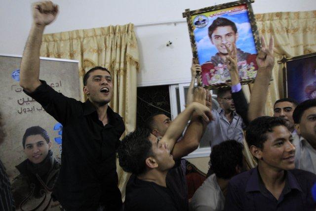 Les célébrations ont éclaté spontanément dans la bande... (PHOTO SAID KHATIB, AFP)