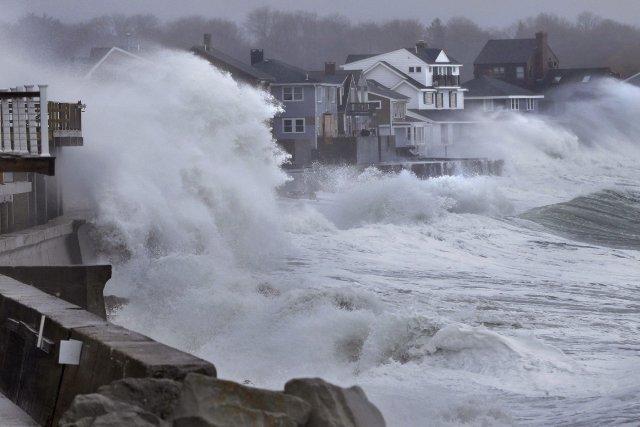 Une tempête survenue auMassachusetts (É.-U.) en mars 2013.... (PHOTO Steven Senne, archives AP)