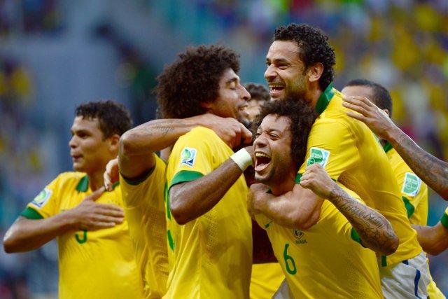 Le Brésil a doublé l'Italie 4-2 samedi au... (Photo : Christophe Simon, AFP)