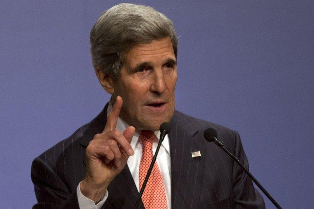 Le secrétaire d'État américain John Kerry lors de... (PHOTO AHMAD MASOOD, REUTERS)