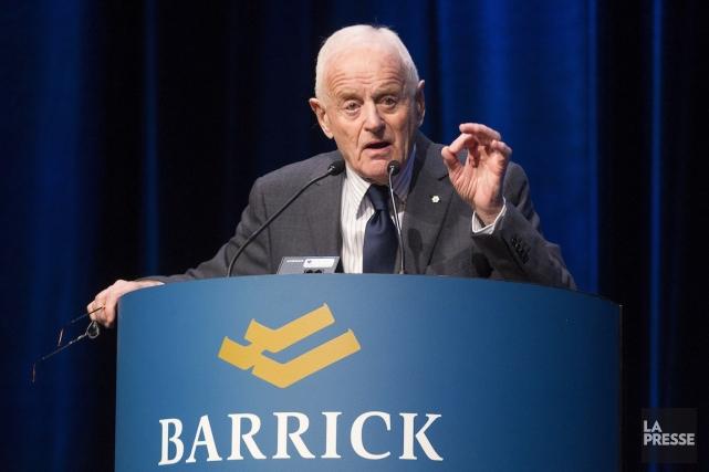 Peter Munk, le fondateur de Barrick Gold.... (PHOTO CHRIS YOUNG, PC)