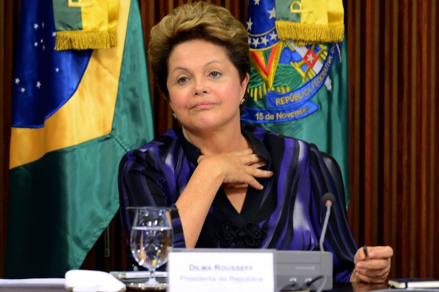 La présidente du Brésil, Dilma Roussef.... (Photo Evaristo SA, AFP)
