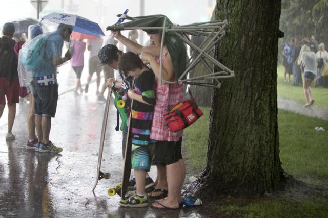 De violents orages se sont abattus sur le sud-est de la province lundi, privant... (Photo: Robert Skinner, La Presse)