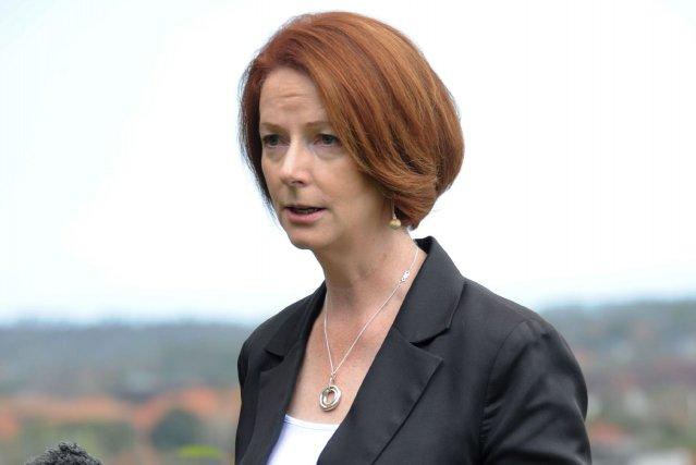 Mme Gillard n'a pas fait mystère de sa... (PHOTO SONNY TUMBELAKA, AFP)