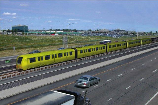 Sur la Couronne Sud, le SLR sera intégré... (Image fournie par l'agence métropolitaine de transport)