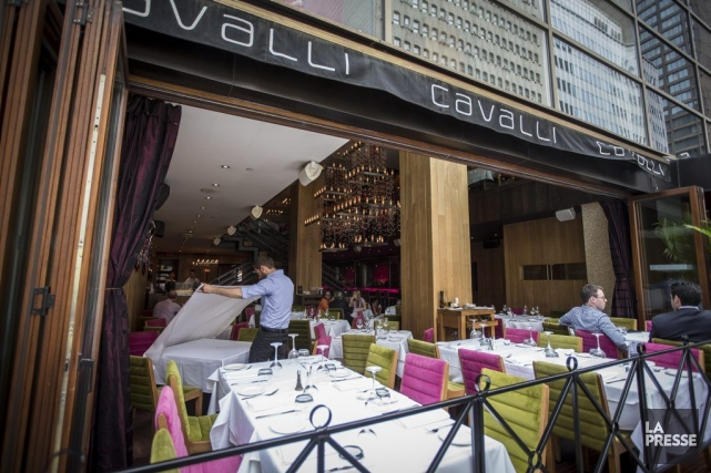 Devanture du restaurant italien Cavalli sur la rue... (Photo Olivier Pontbriand, La Presse)