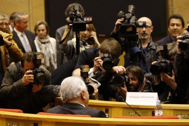 DSK s'exprimait devant le Sénat au sujet de... (Photo CHARLES PLATIAU, REUTERS)