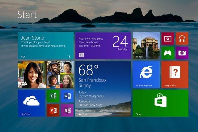 Le bureau de Windows 8.1 avec son fond... (Photo Microsoft)