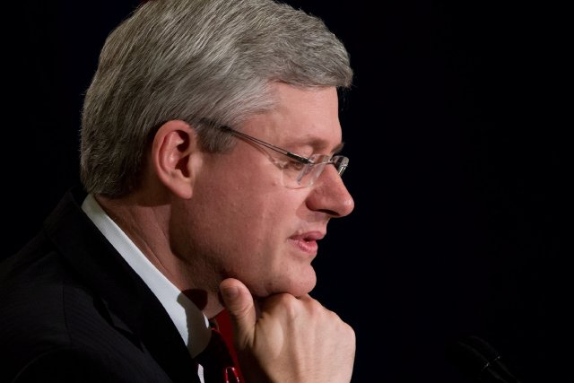 Le premier ministre Stephen Harper... (Photo archives La Presse Canadienne)