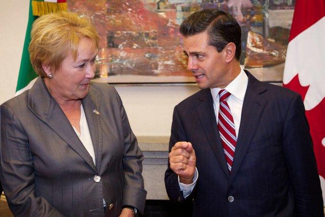 Pauline Marois a soutenu que les relations mexicano-québécoises... (PHOTO PATRICK LACHANCE, LA PRESSE CANADIENNE)