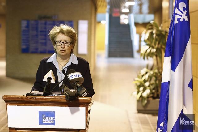 La ministre du Travail Agnès Maltais a affirmé... (Photo: Yan Doublet, Le Soleil)
