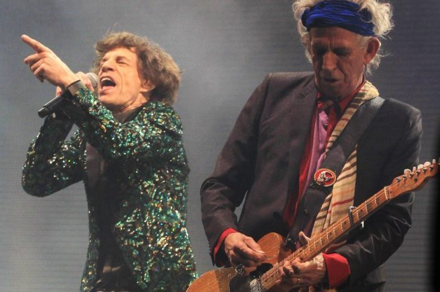 Mick Jagger et Keith Richards... (PHOTO JIM ROSS, AP)