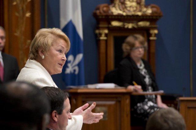 La première ministre Pauline Marois répond aux questions... (La Presse Canadienne)