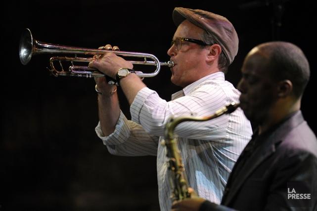 Le Dave Douglas Quintet rendait hommage àWayne Shorter... (Photo Bernard Brault, La Presse)