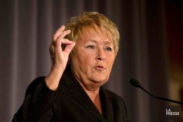 Pauline Marois est «très déçue» d'être obligée d'en arriver à imposer une loi... (La Presse)