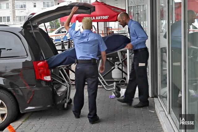 Ce jour-là, vers 18h, un homme armé a... (Photo Patrick Sanfaçon, La Presse)
