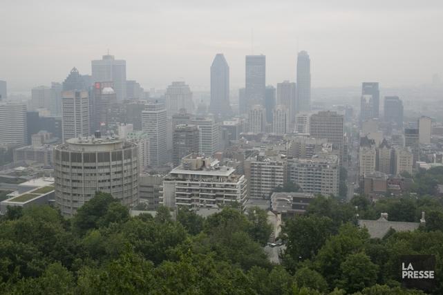 La présence de particules fines et de polluants... (Photo David Boily, La Presse)