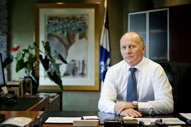 Philippe Duval, le président de la SAQ.... (PHOTO MARCO CAMPANOZZI, LA PRESSE)