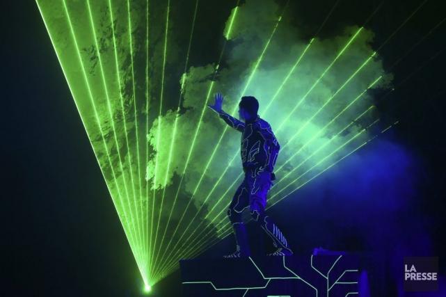 Théo Dari, alias Laserman.... (Photo: Martin Chamberland, La Presse)