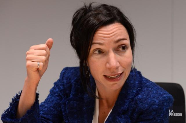 La ministre des Ressources naturelles, Martine Ouellet.... (PHOTO BERNARD BRAULT, LA PRESSE ARCHIVES)
