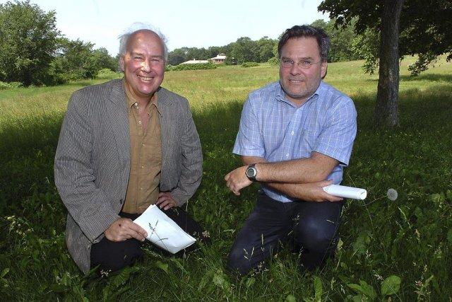 Le promoteur immobilier Marc Simard Simard (à gauche,... (Le Soleil, Jean-Marie Villeneuve)