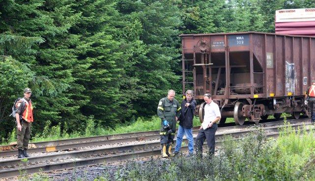 Ci-dessus, une photo d'inspection de la voie ferrée.... (Archives La Tribune)