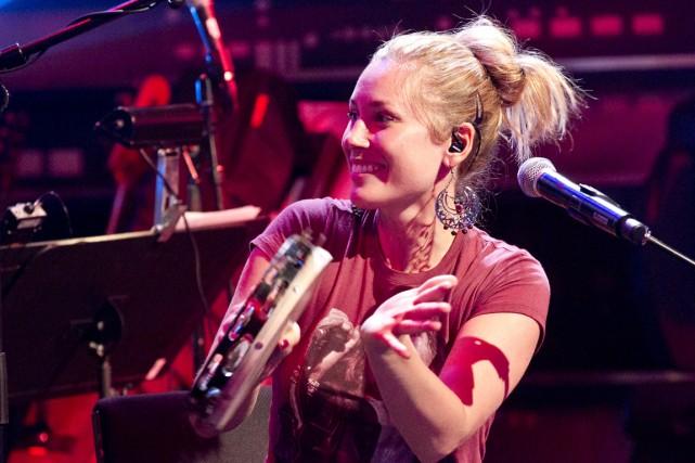 La percussionniste Mélissa Lavergne propose en ouverture du... (PHOTO HUGO-SÉBASTIEN, LA PRESSE)