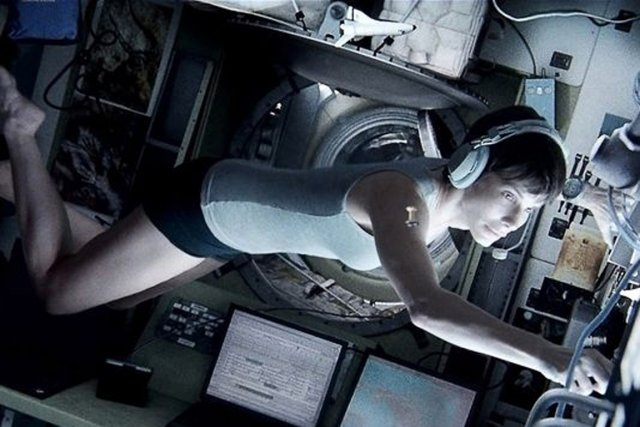 Sandra Bullock dans Gravity, film qui ouvrira le... (PHOTO WARNER BROS)