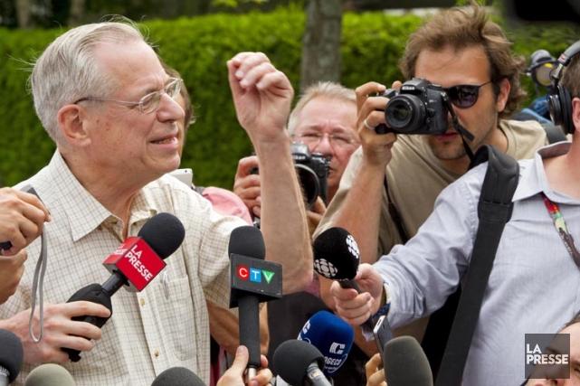 Edward Burkhardt devant les médias mercredi après-midi.... (Photo: Alain Roberge, La Presse)
