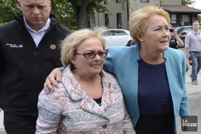 La première ministre Pauline Marois est venue faire... (Photo: La Presse Canadienne)