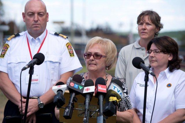 La mairesse Colette Roy-Laroche a discuté de la... (Photo La Presse Canadienne)