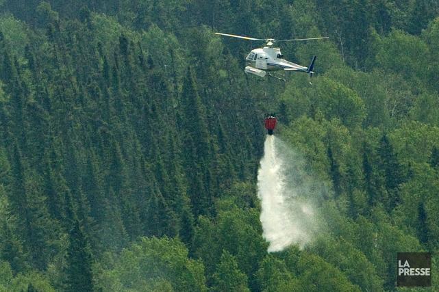 Un incendie de forêt, au nord de Wemotaci.... (Photo: David Boily, archives La Presse)