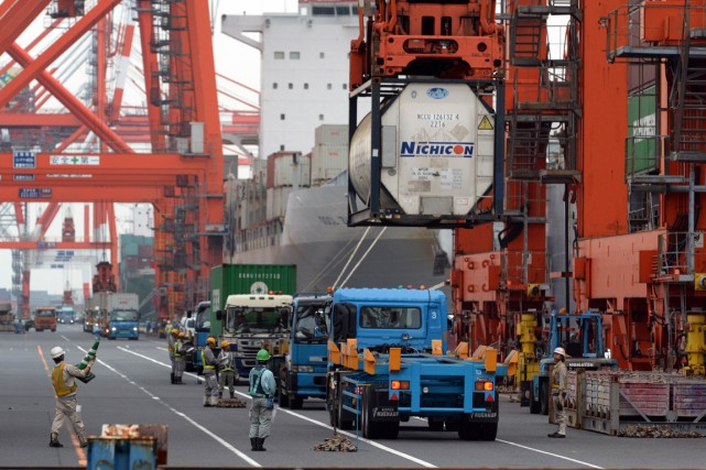 Le produit intérieur brut (PIB) du Japon a... (Photo Yoshikazu Tsuno, archives AFP)