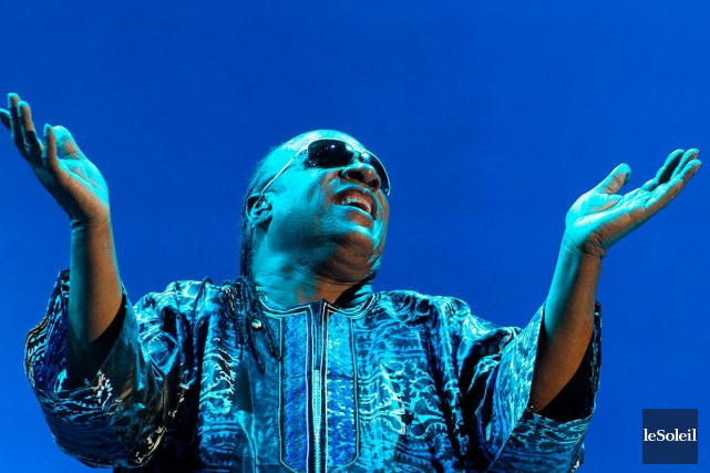 Stevie Wonder lors de son passage à Québec... (Photo: Pascal Ratthé, archives Le Soleil)
